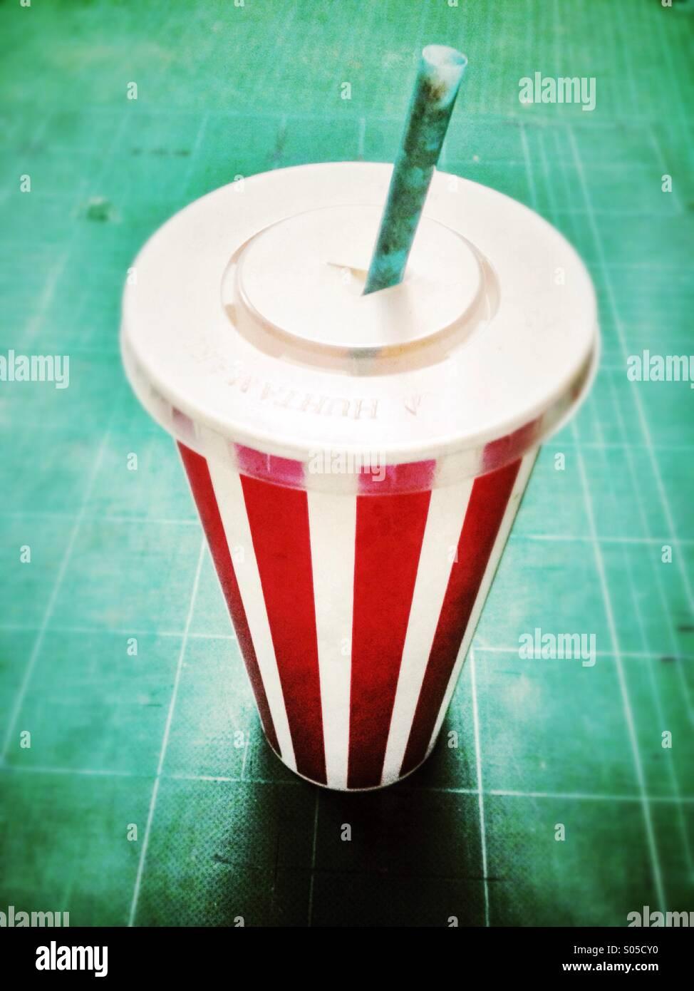 Empty milkshake container. - Stock Image