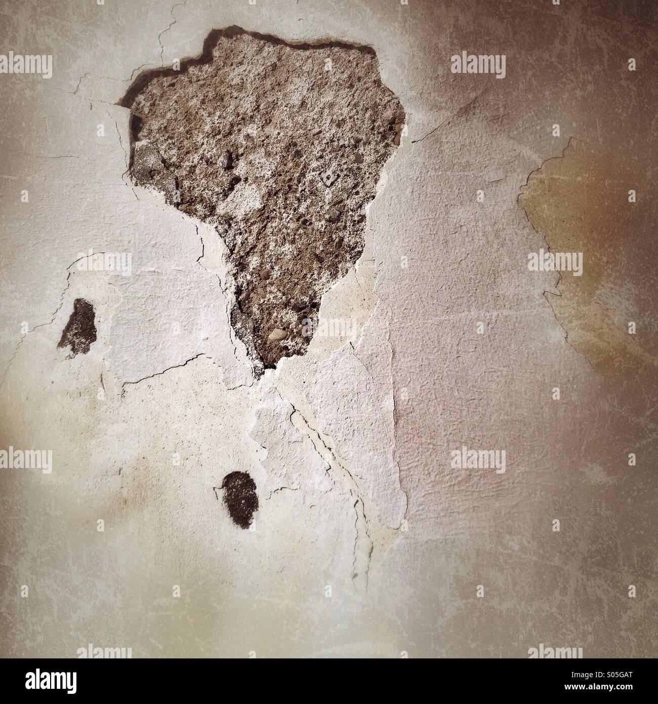 Peeling wall - Stock Image