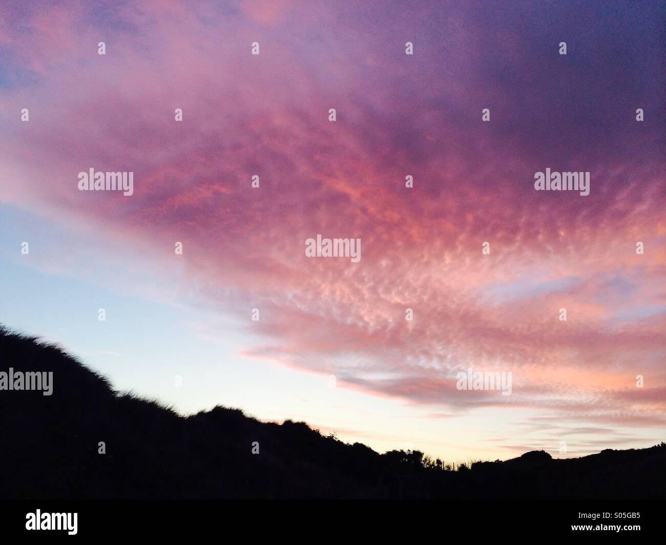 Purple sunset - Stock Image