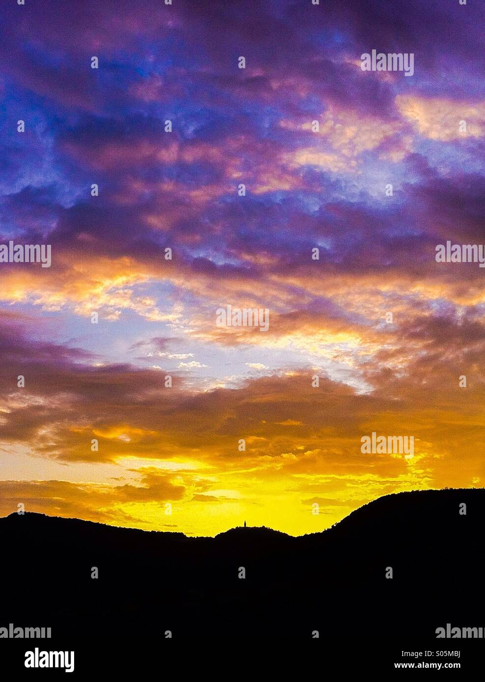 Sunset sky - Stock Image
