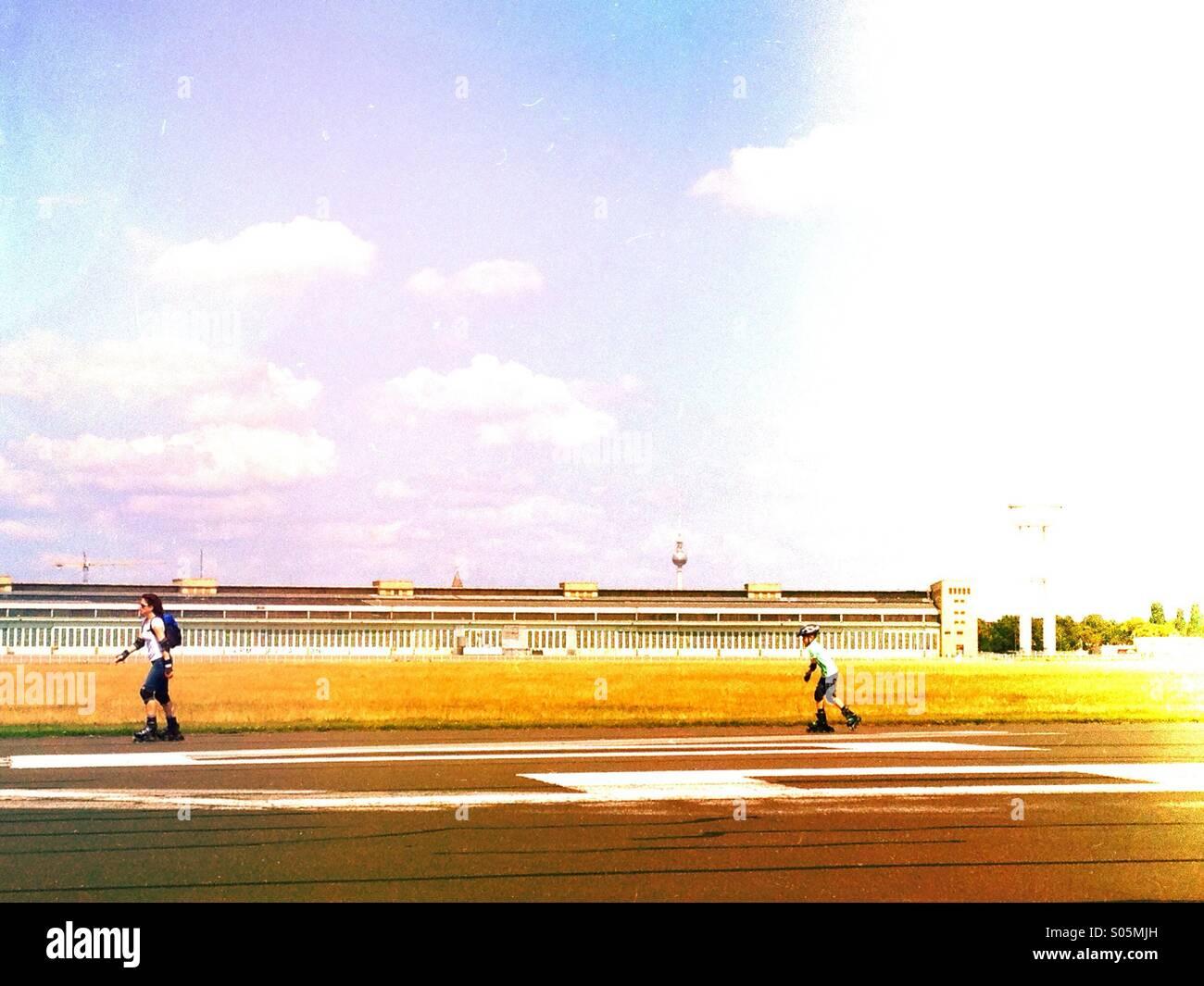 Tempelhof Park, Berlin - Stock Image