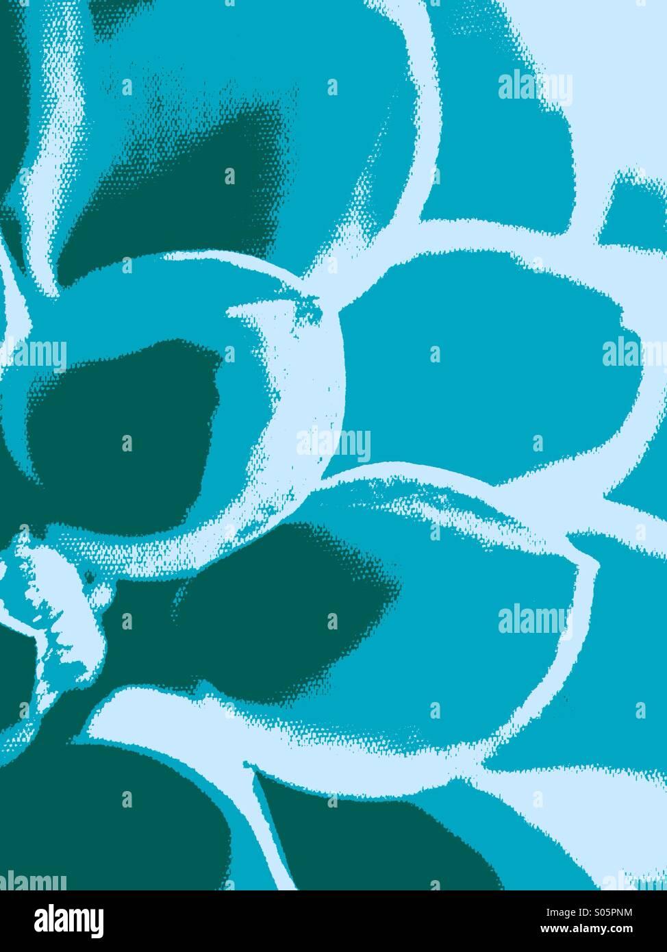 Close up of dahlia petals - Stock Image
