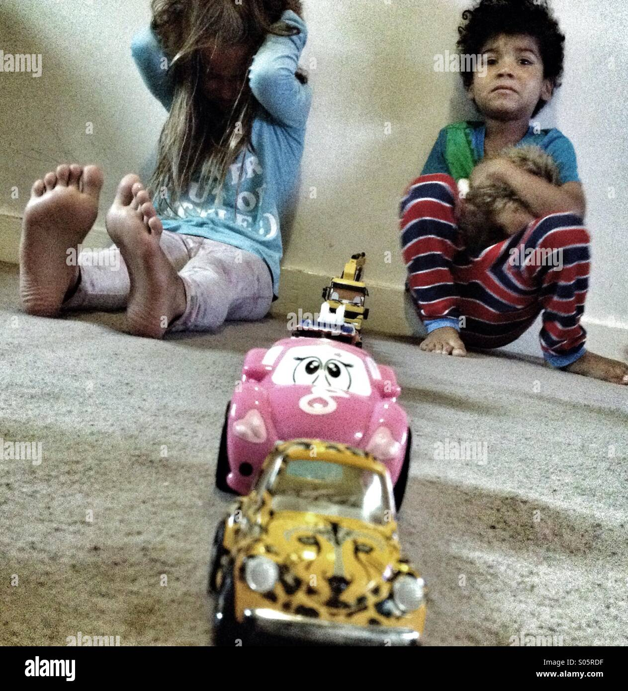 Spoiled kids - Stock Image