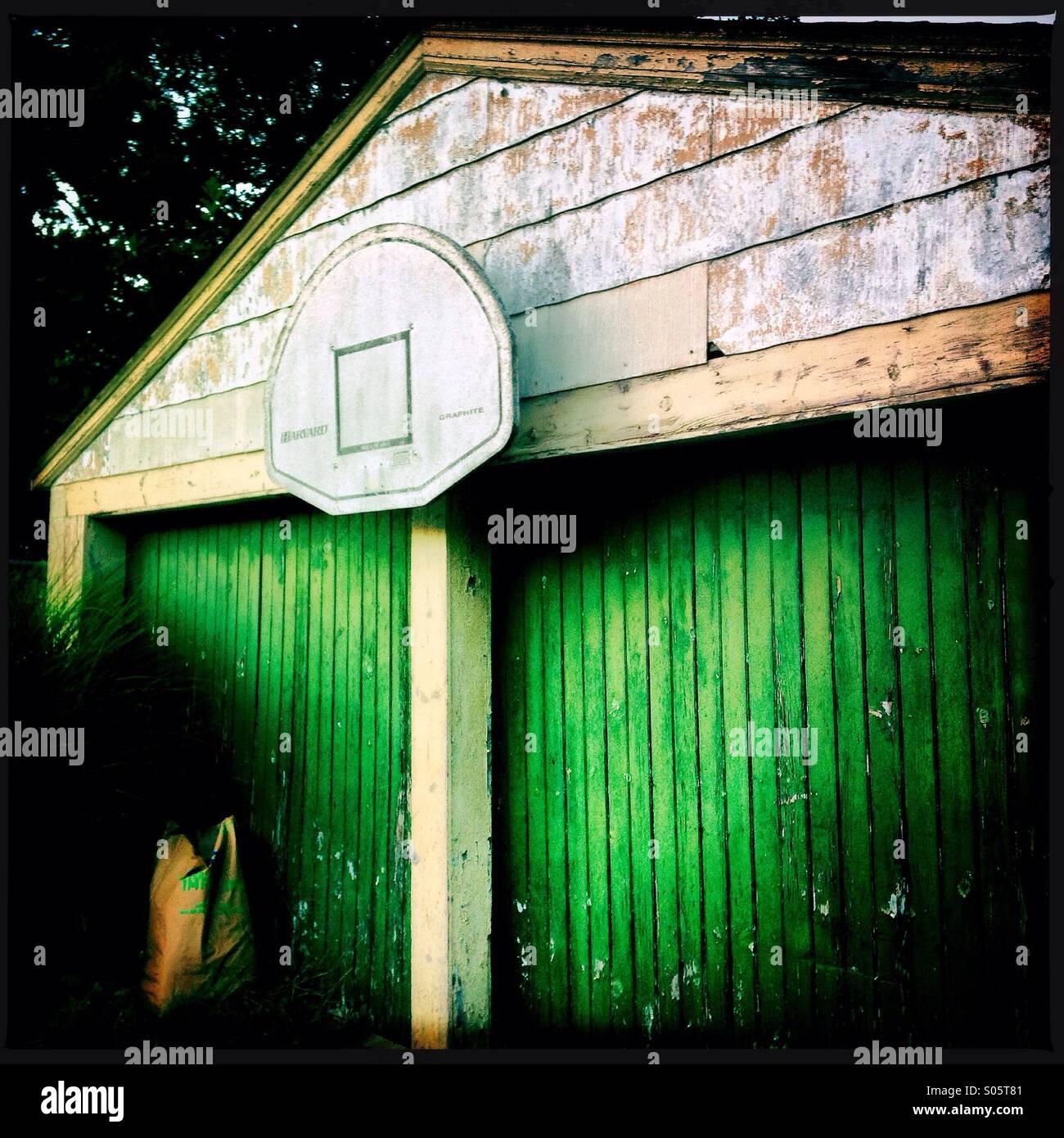 Urban Garage Doors Peeling Paint Stock Photos Urban Garage Doors