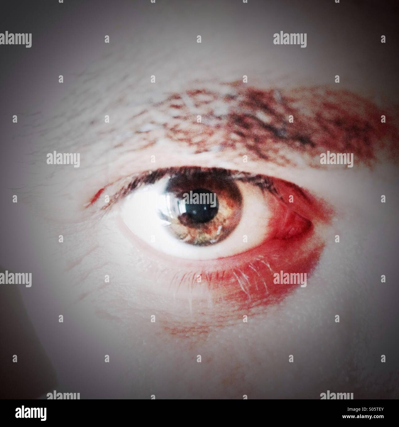 Scary eye - Stock Image