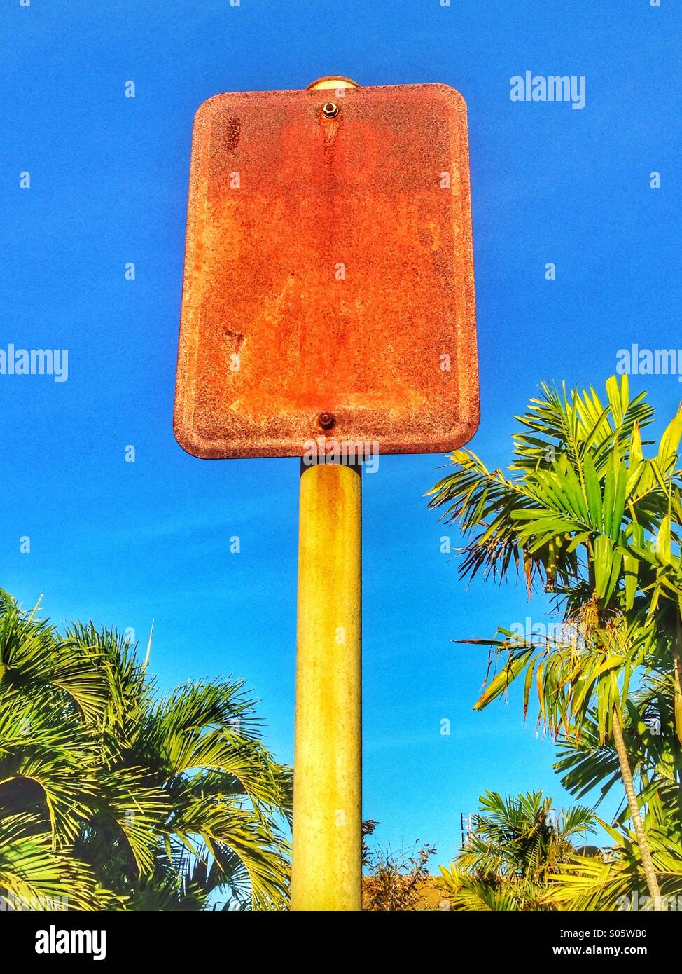 Rusty old sign. - Stock Image