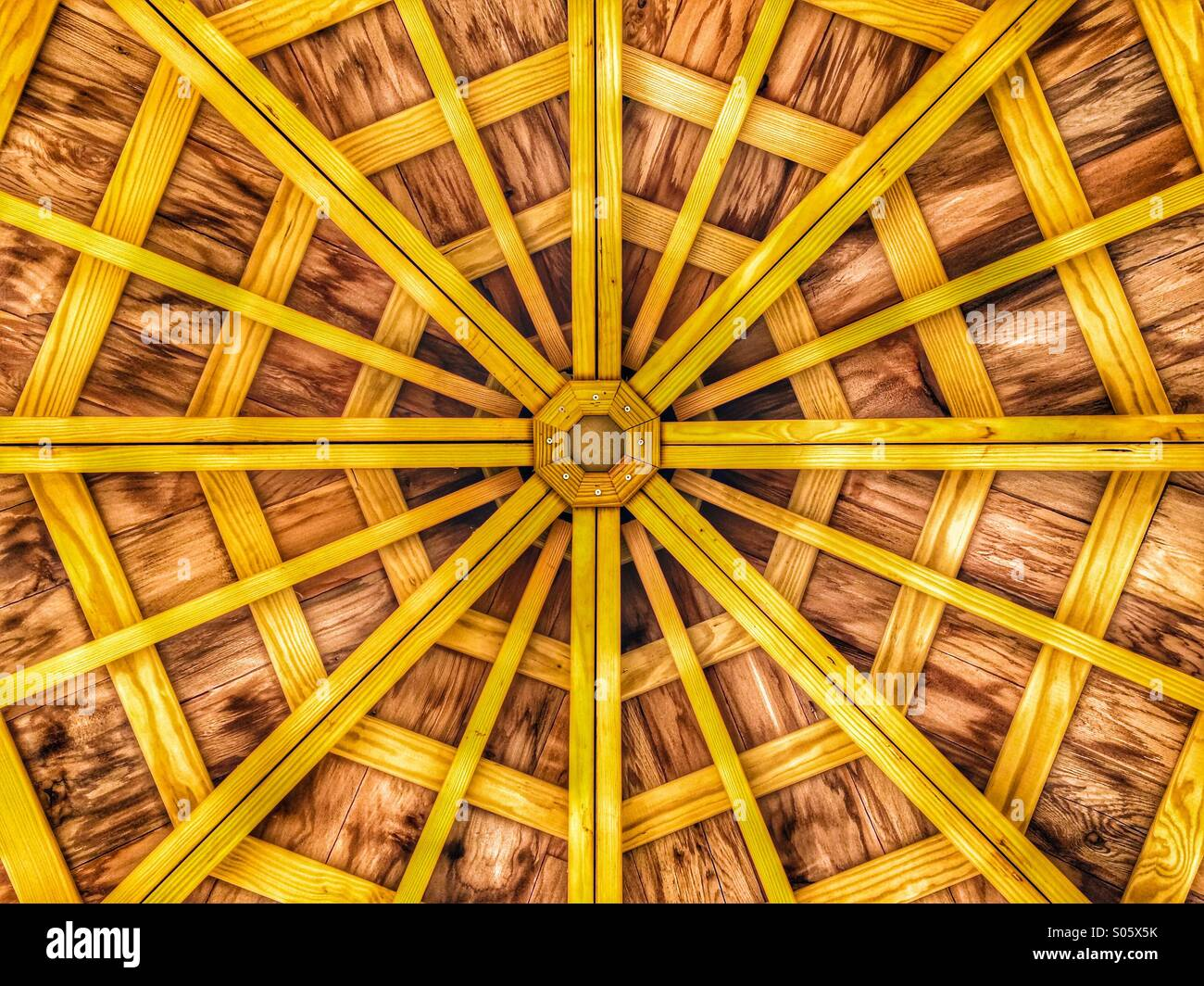 Gazebo roof - Stock Image