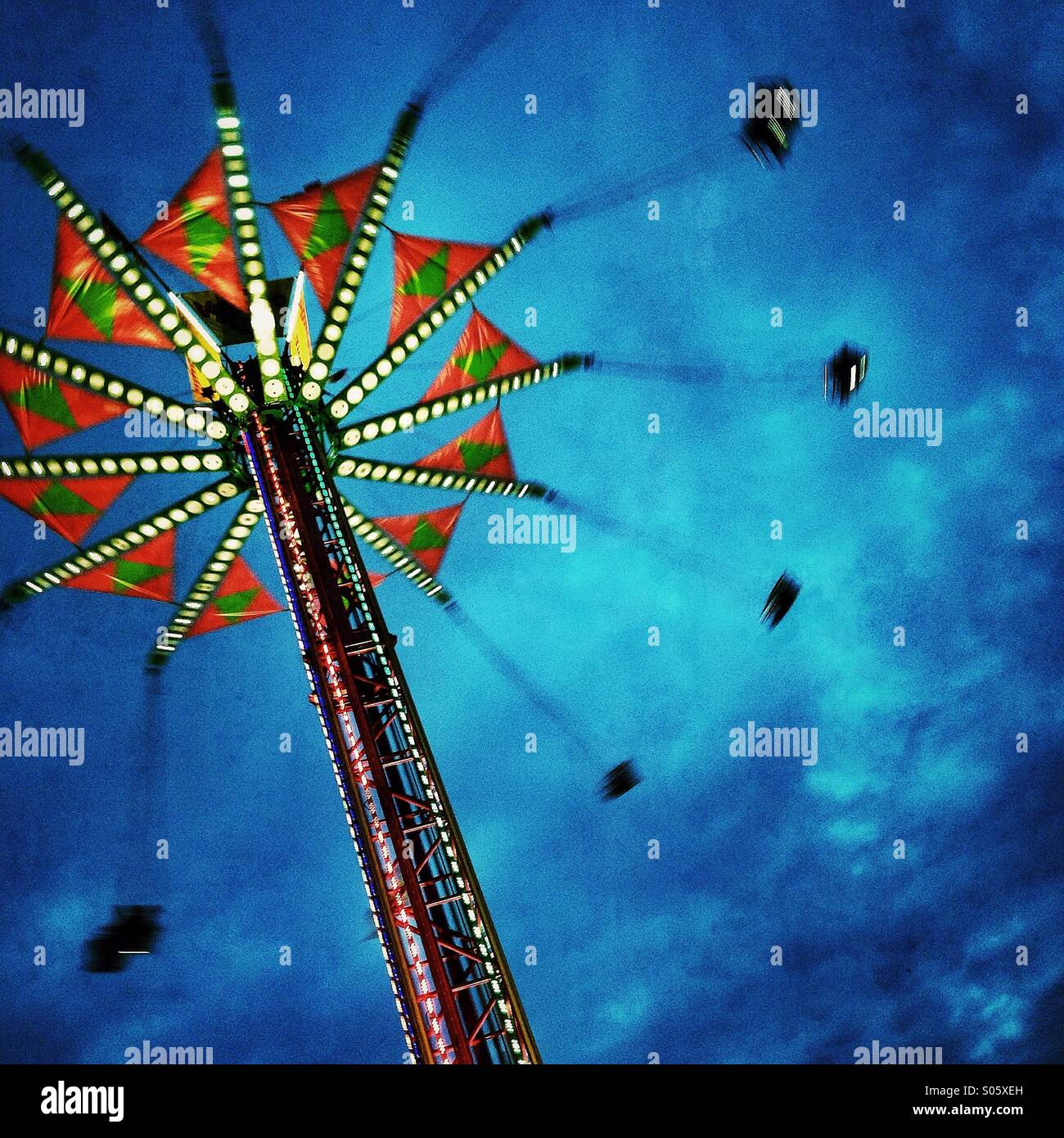 County fair thrill ride - Stock Image