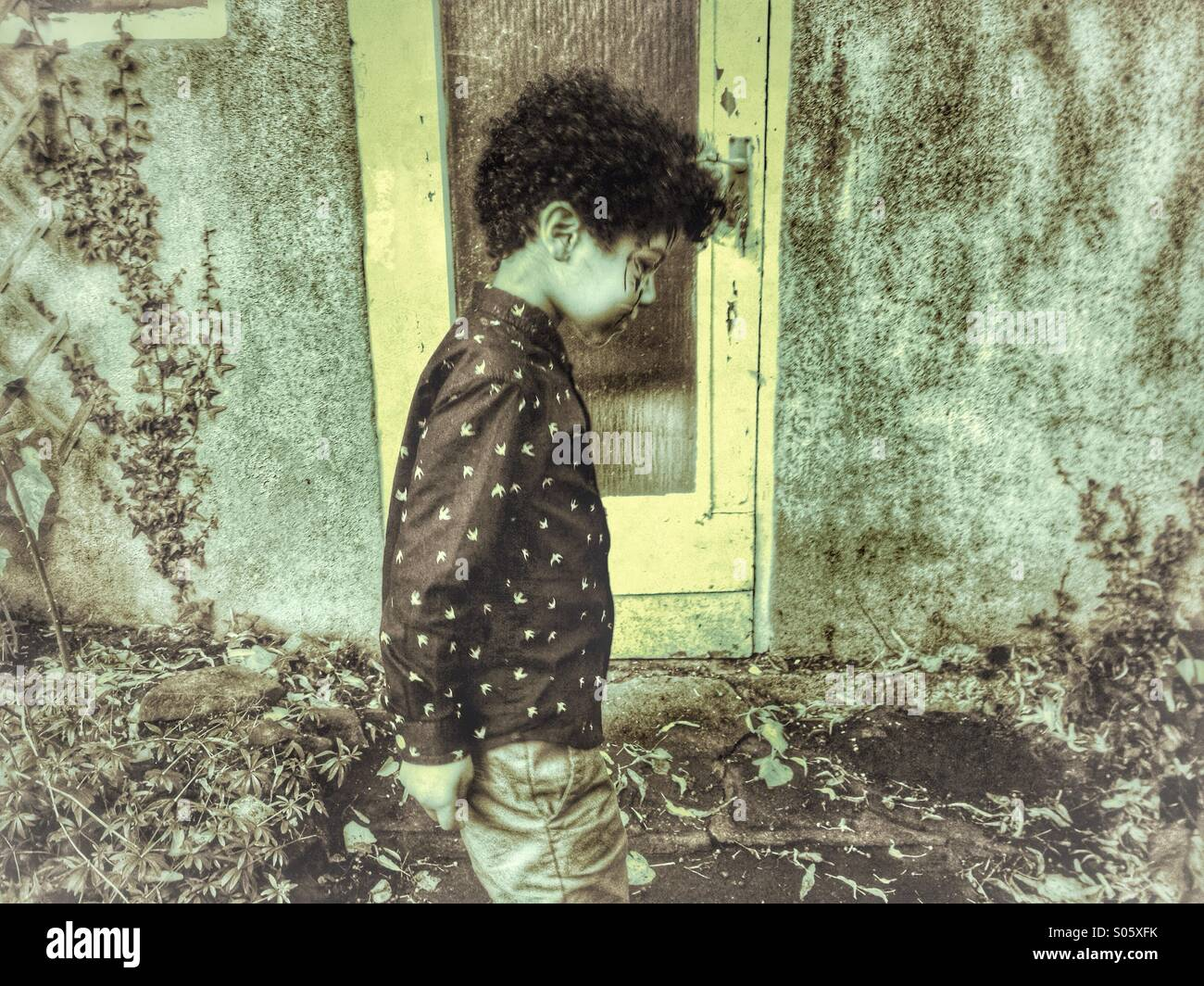 Lonely Child Stock Photo