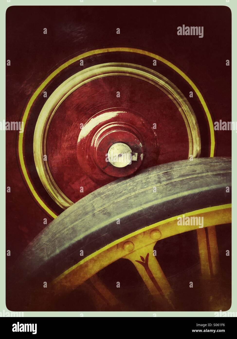 Detail of traction engine - Stock Image