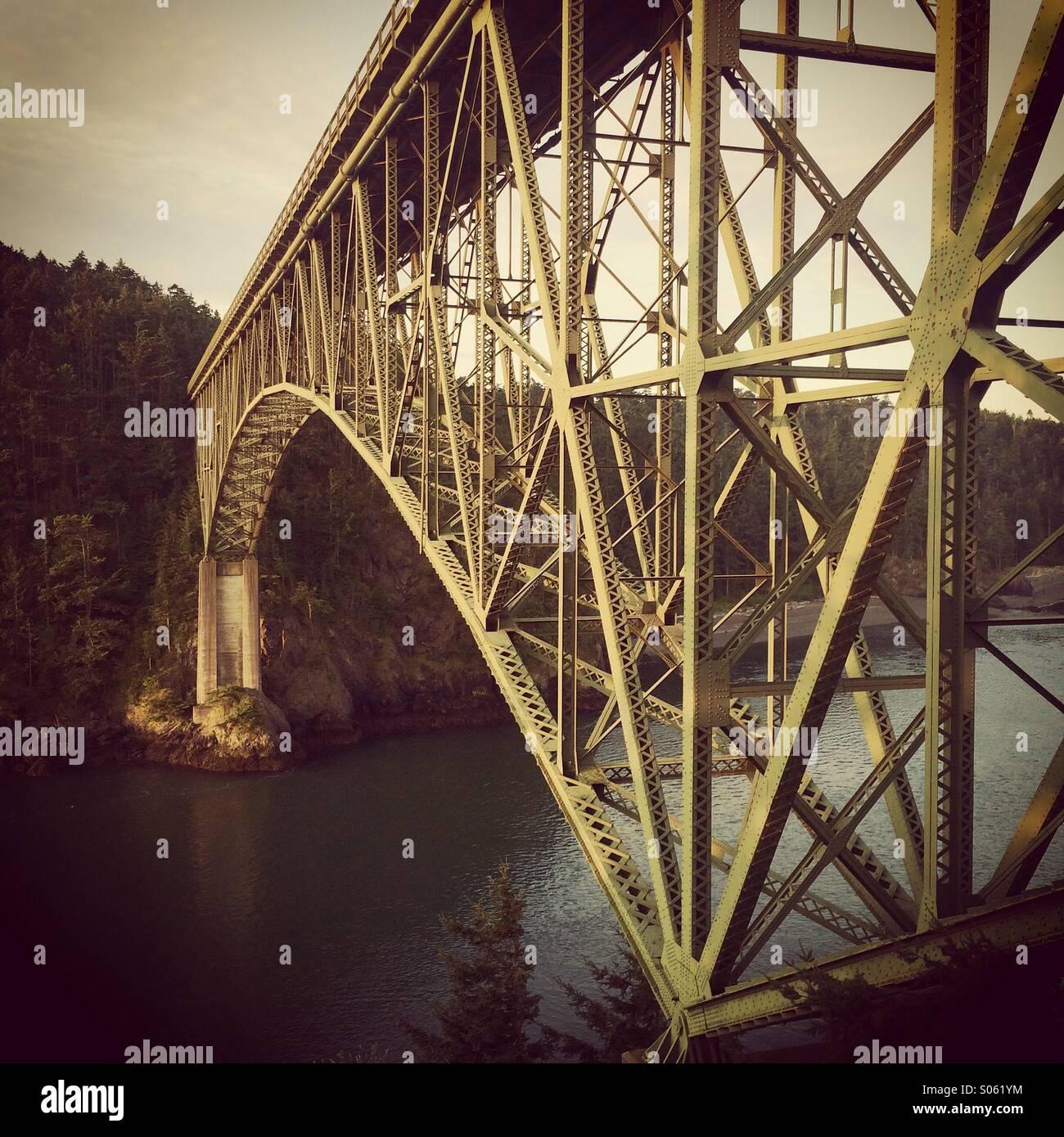 Deception Pass Bridge, Whidbey Island, Washington, - Stock Image