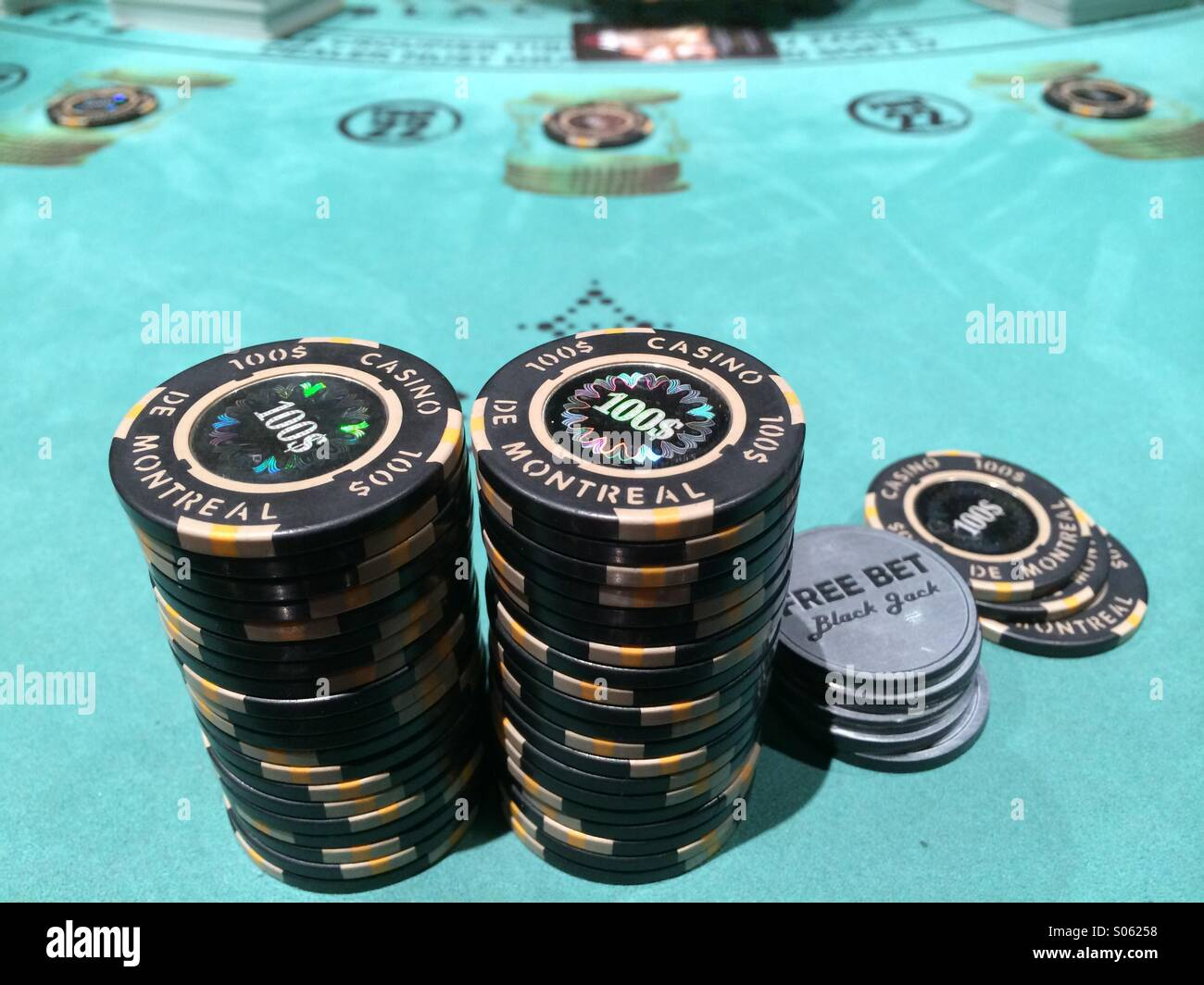 Taken on Blackjack Free Bet Table - Stock Image