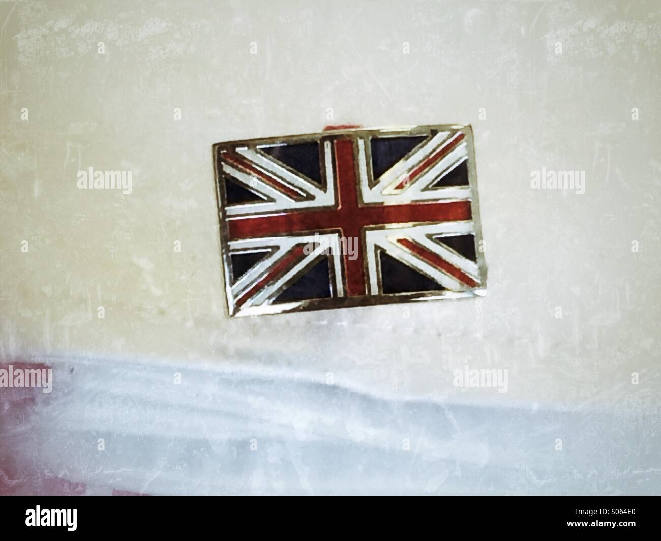 Union Jack cuff link - Stock Image