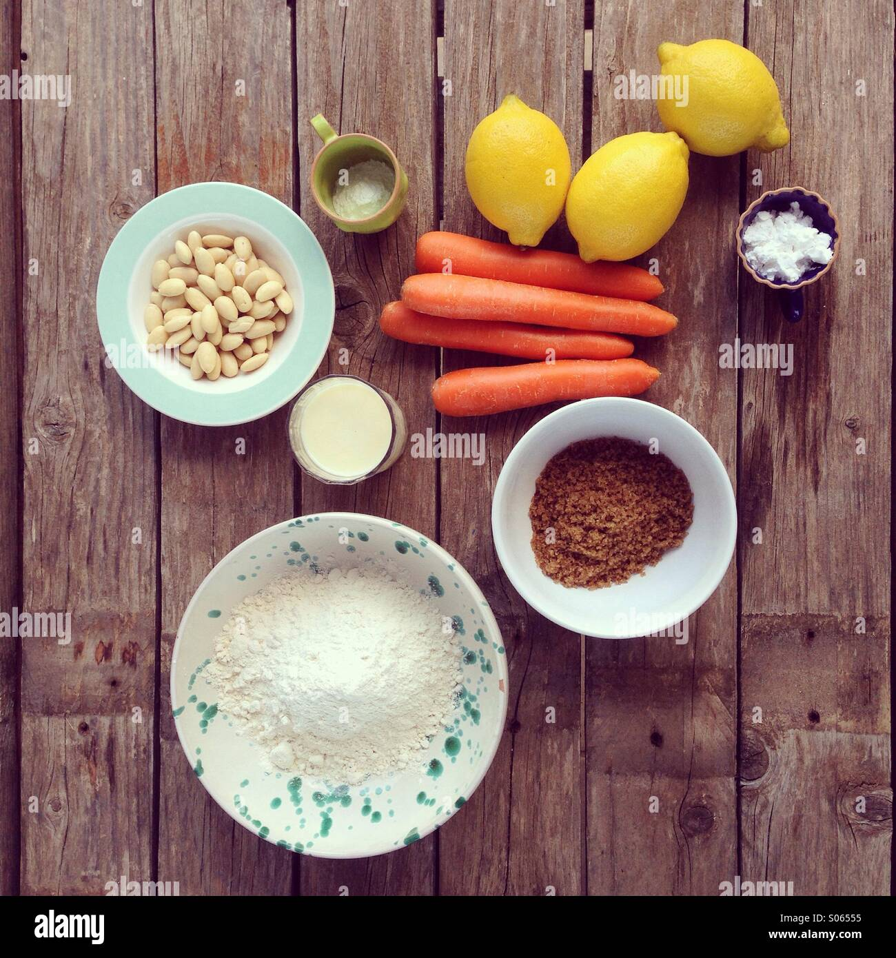 Carrot cake to be - Stock Image