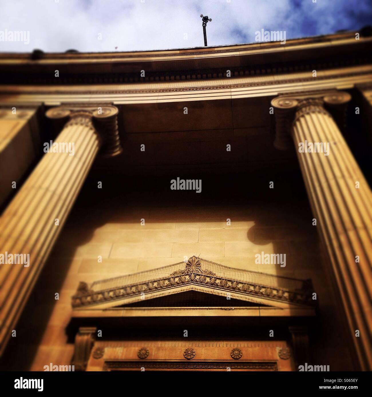 Pillars of power - Stock Image