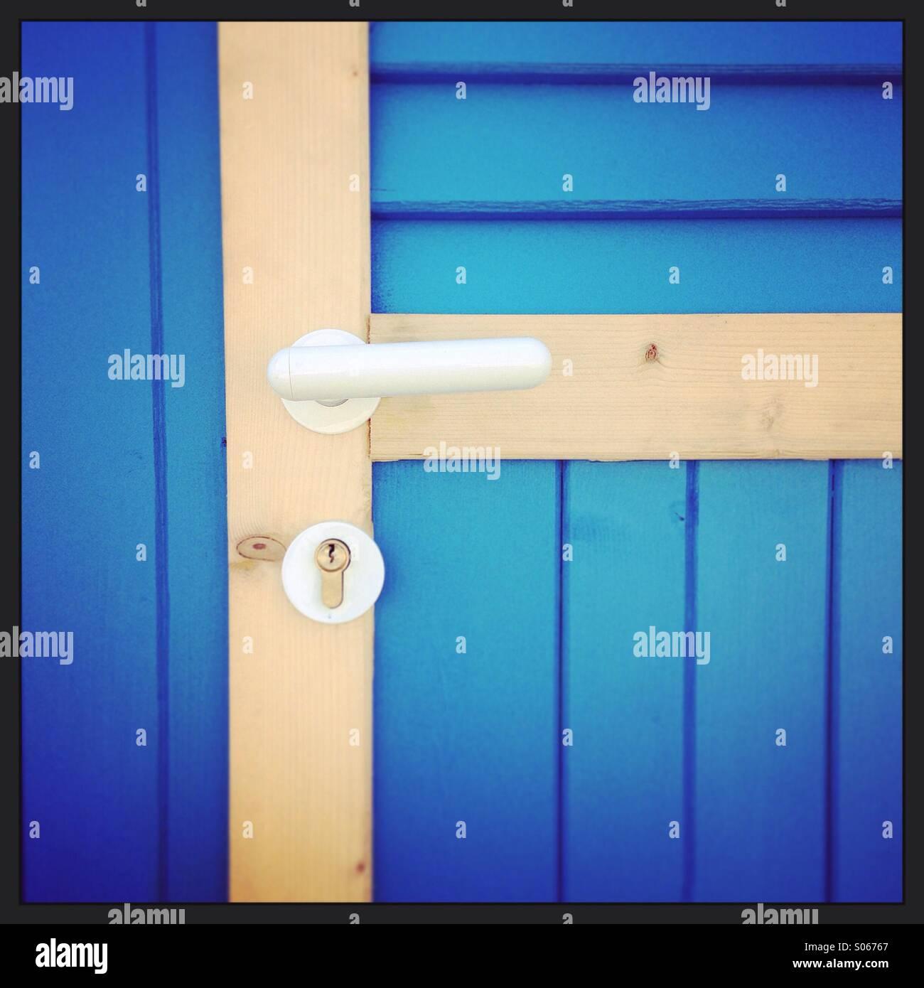 Blu door - Stock Image