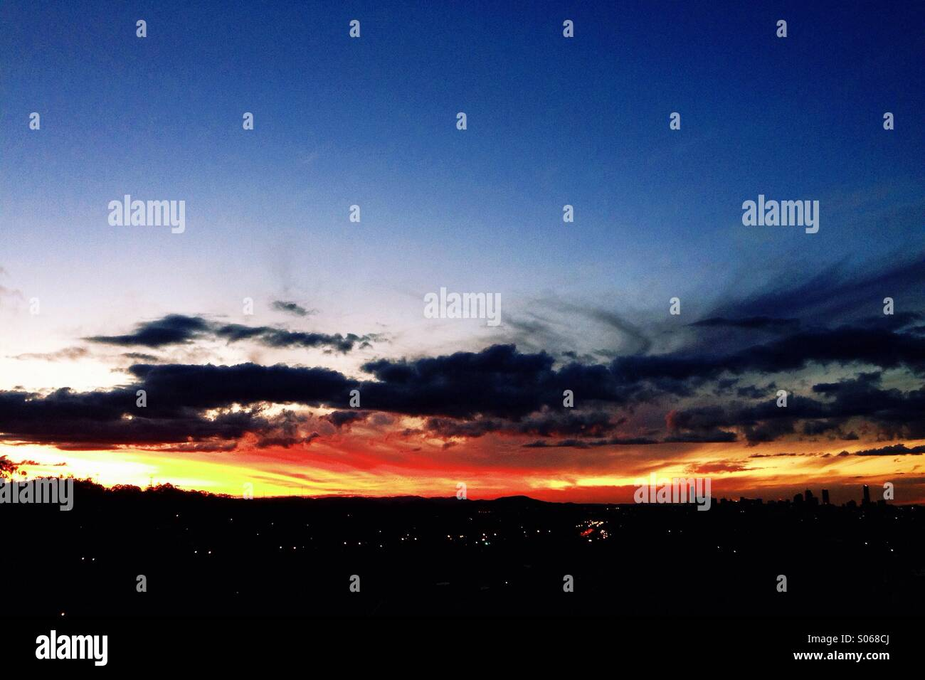 Brisbane Sunset - Stock Image
