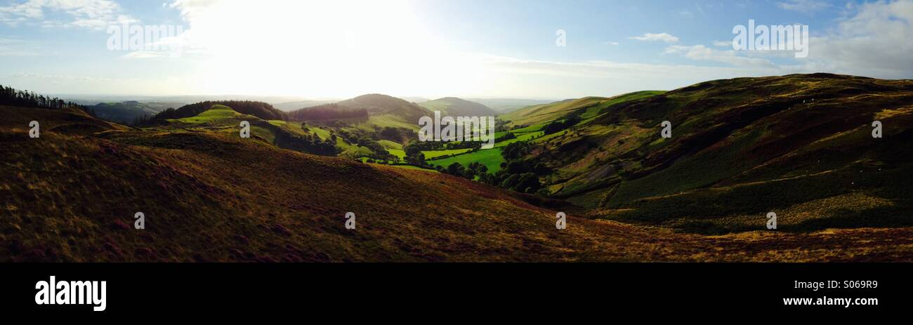 View from bwlch nant yr Arian Stock Photo