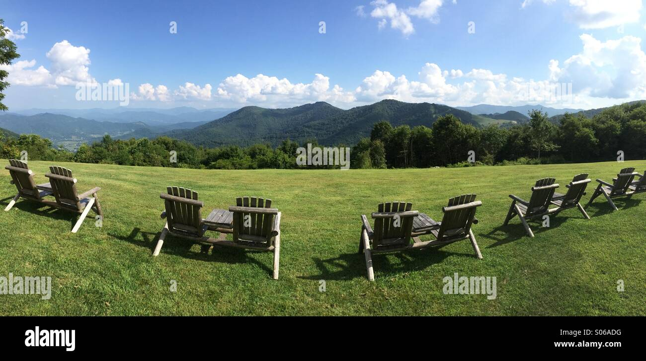 view from gooseberry knob, the swag resort, great smoky mountains