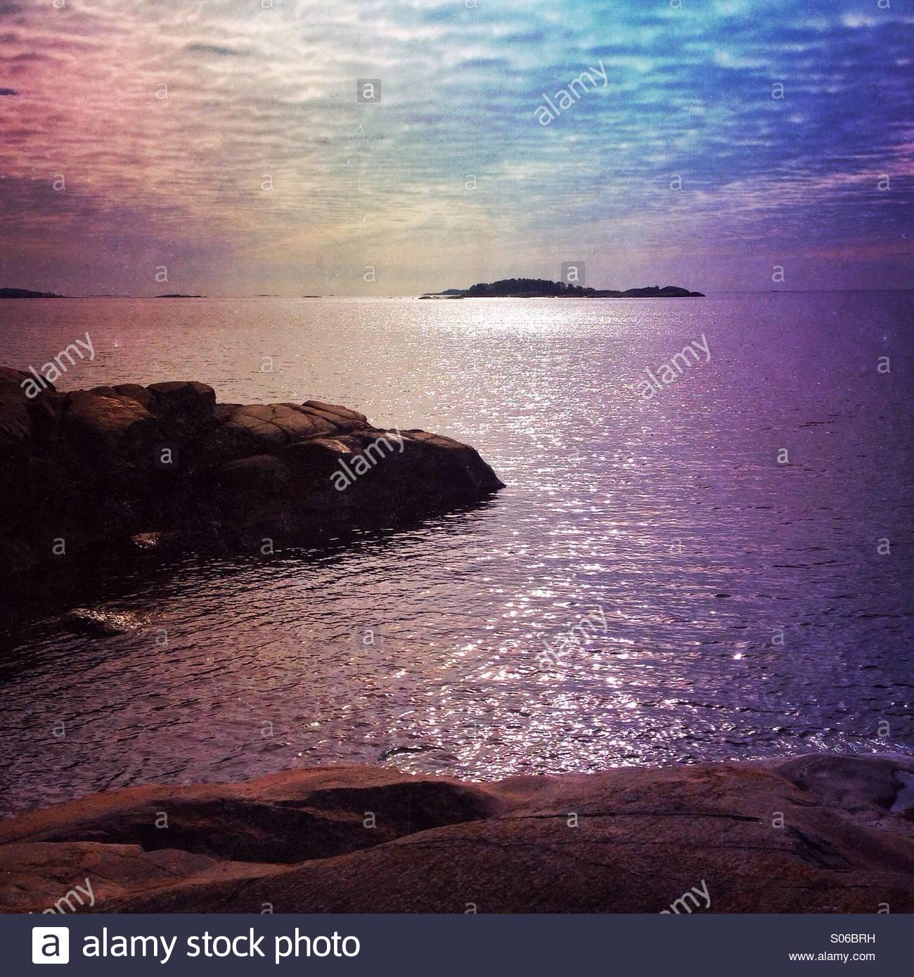 Finnish seascape - Stock Image