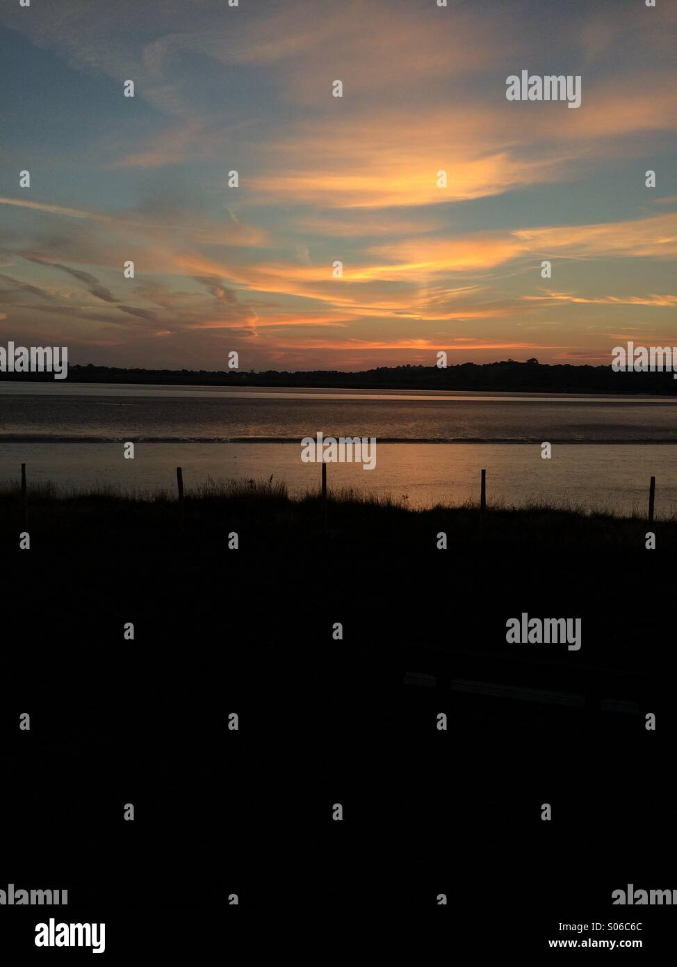 Loughor estuary Stock Photo