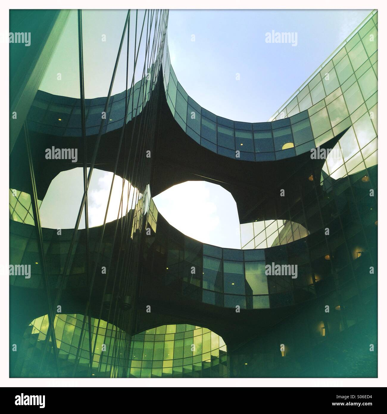 Abstract architecture, The More London - Stock Image