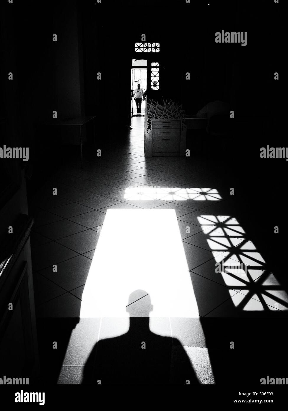 Meet with the shadow - Stock Image