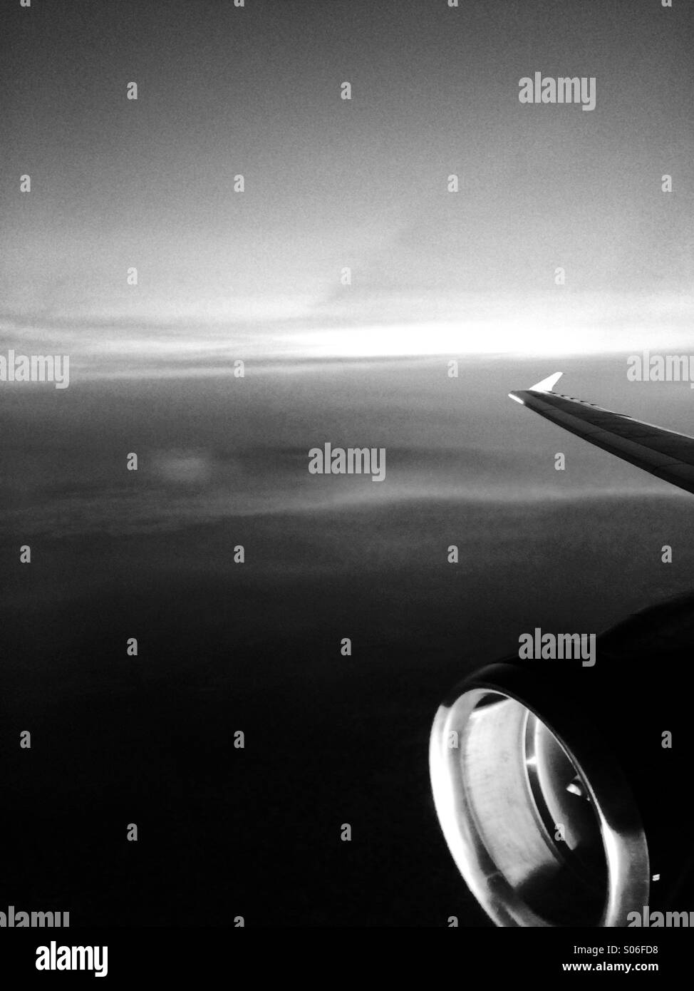 Dark skies - Stock Image