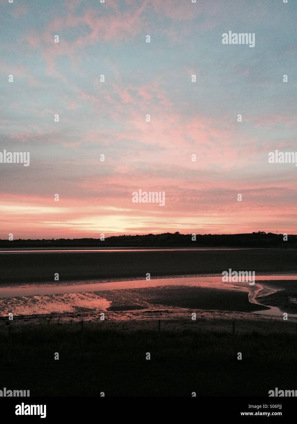 Loughor estuary. Not edited! Stock Photo