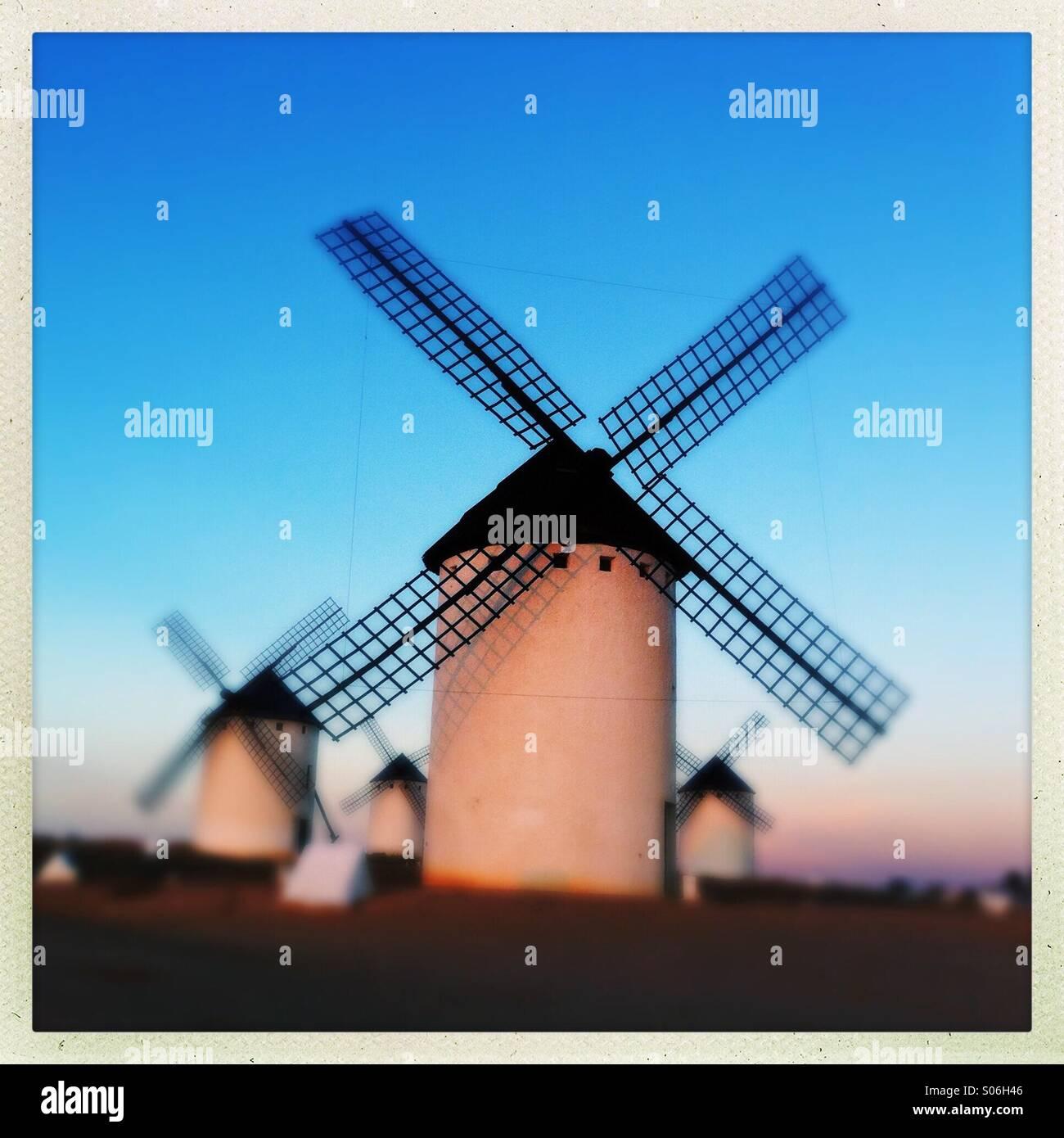 Windmills on La Paz hill - Stock Image