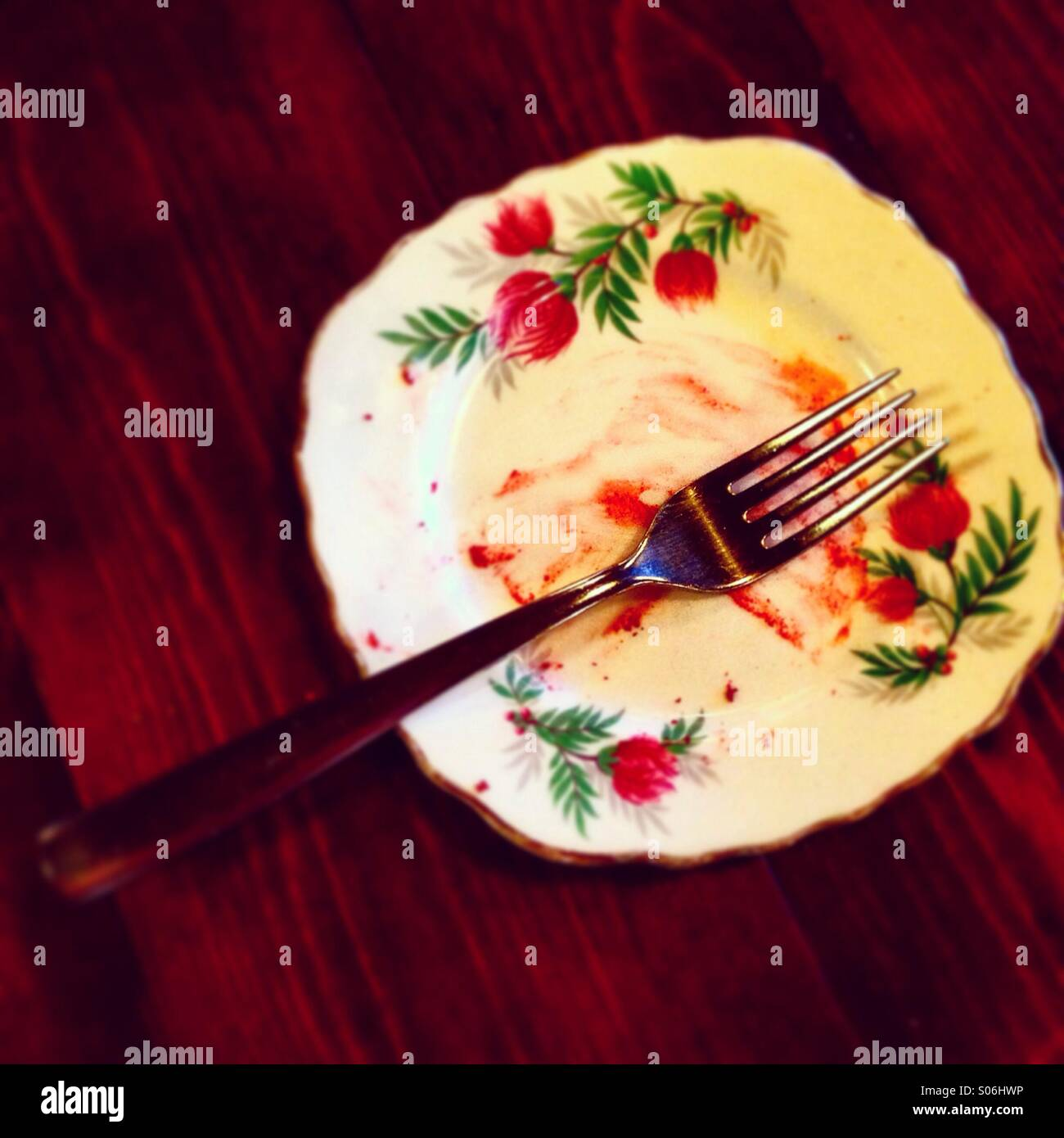 Dirty plate - Stock Image