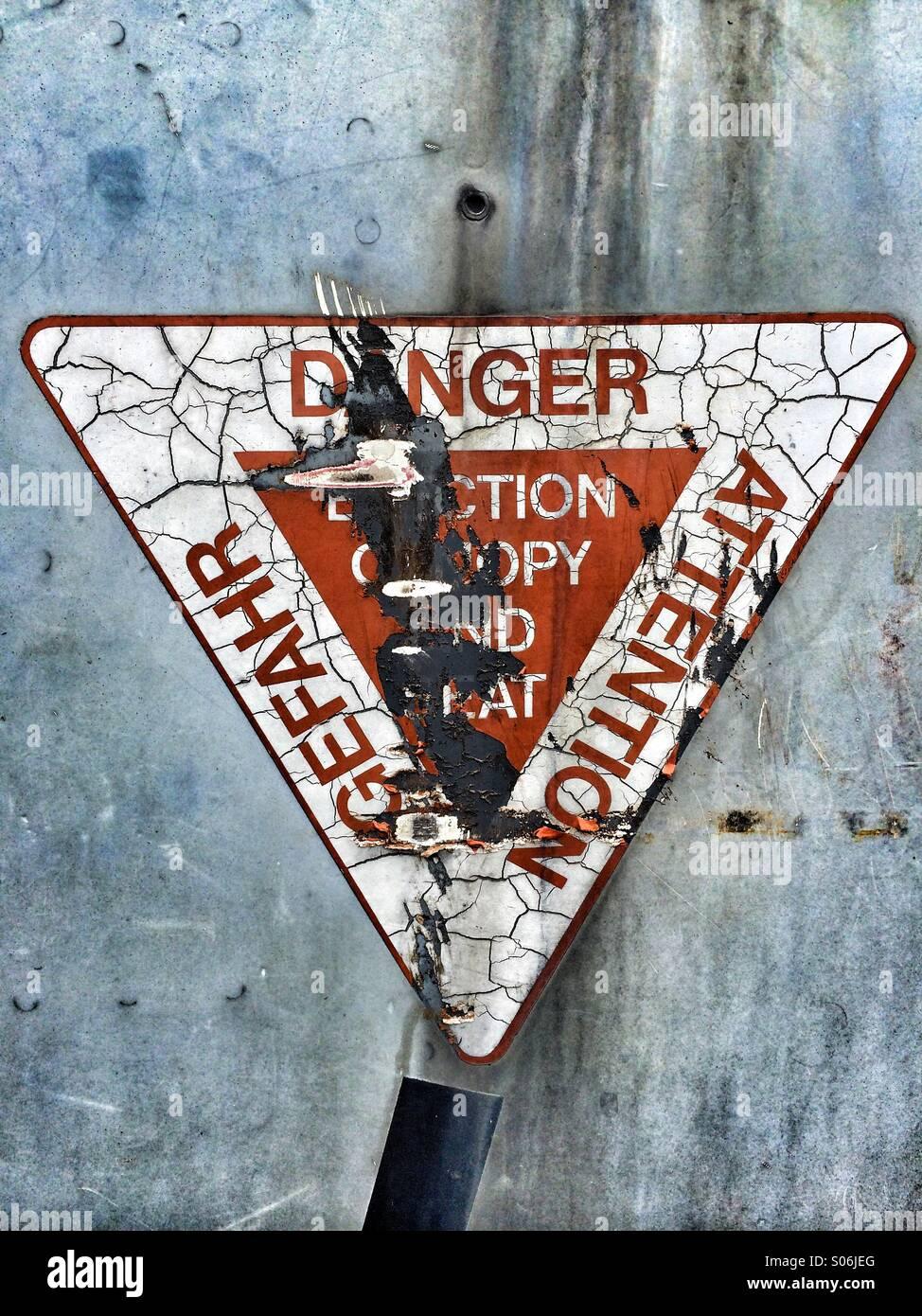Danger sign - Stock Image