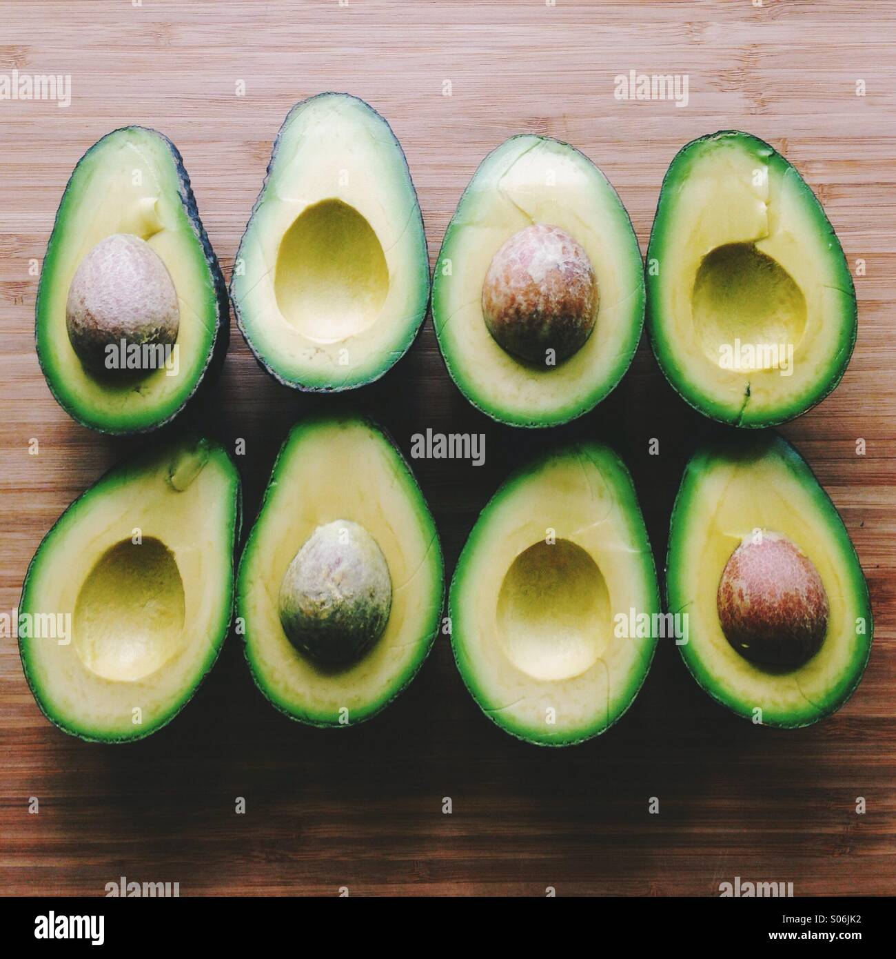 Avocado Halves - Stock Image