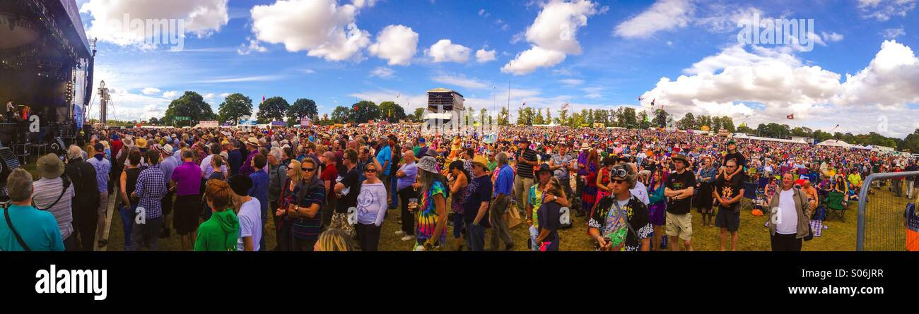Fairport's Cropredy Convention crowd 2014 - Stock Image