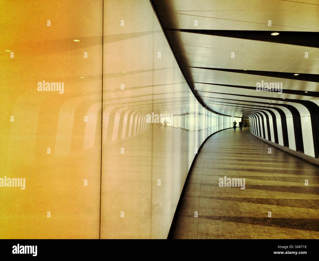 A light tunnel at Kings Cross Station, London Stock Photo