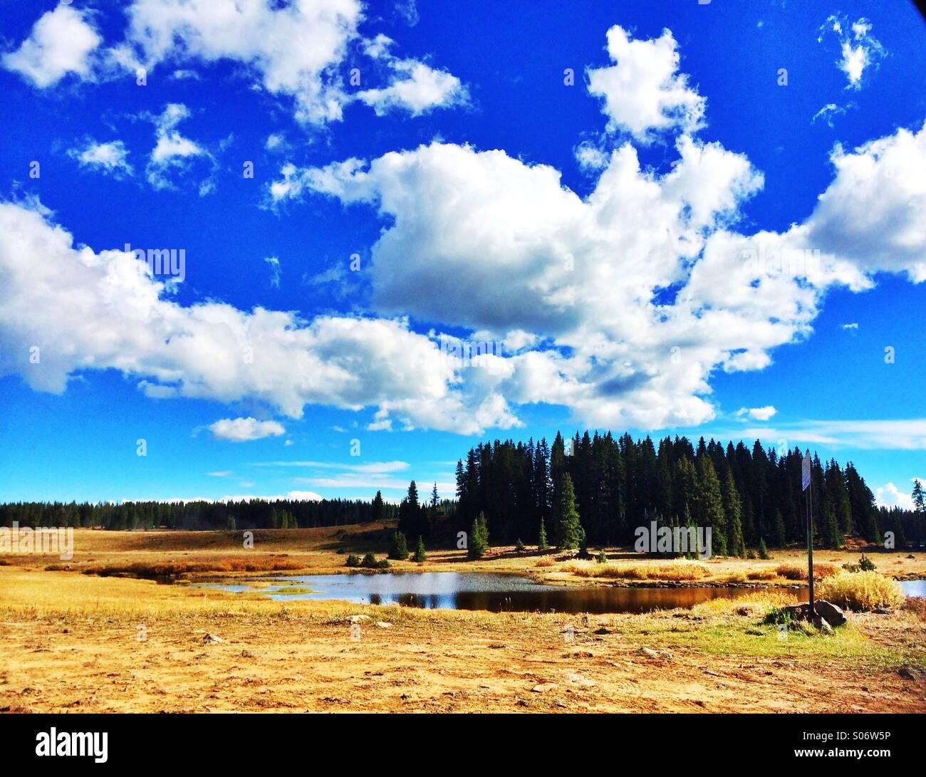 Mesa lakes - Stock Image