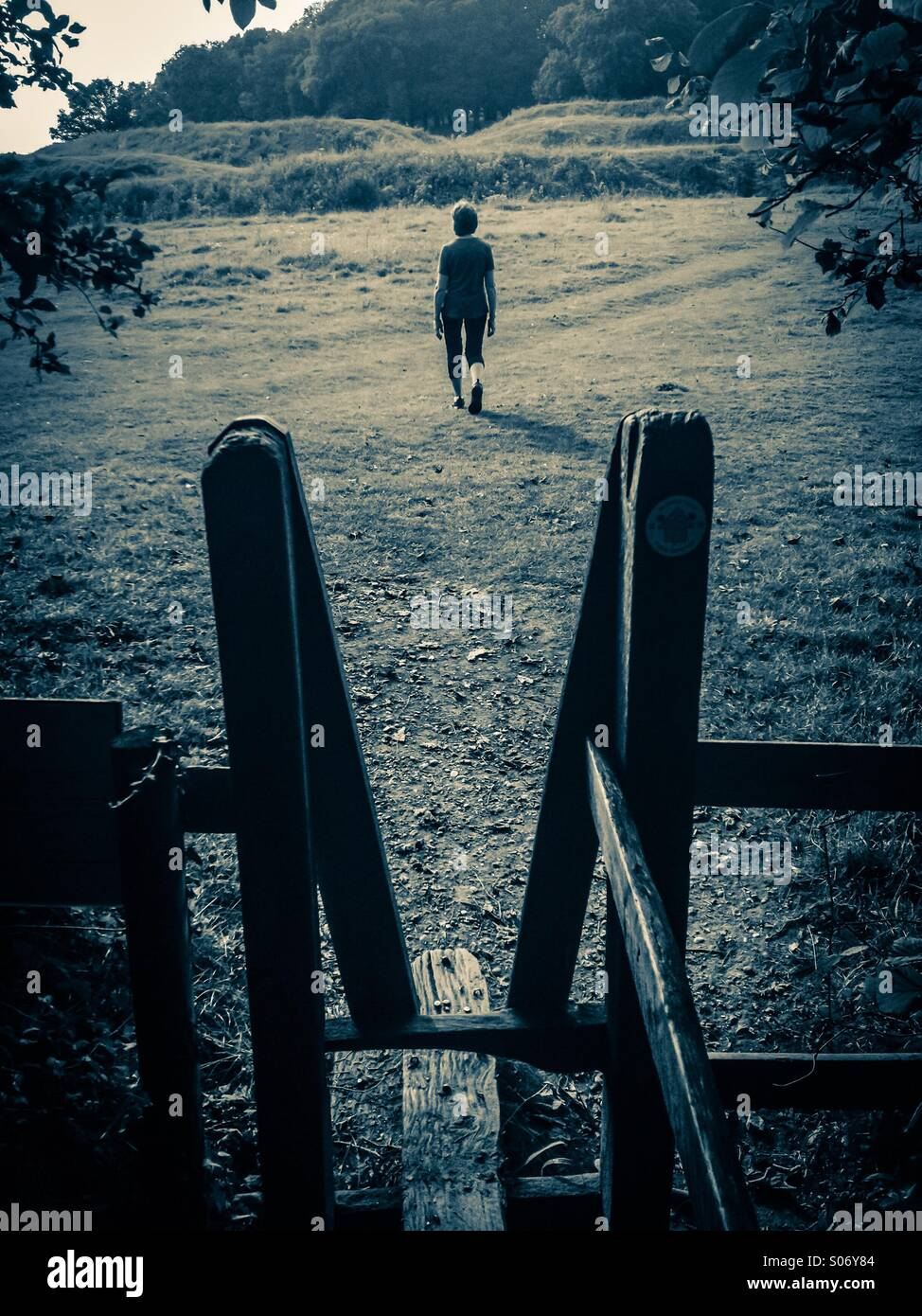 Walking alone - Stock Image