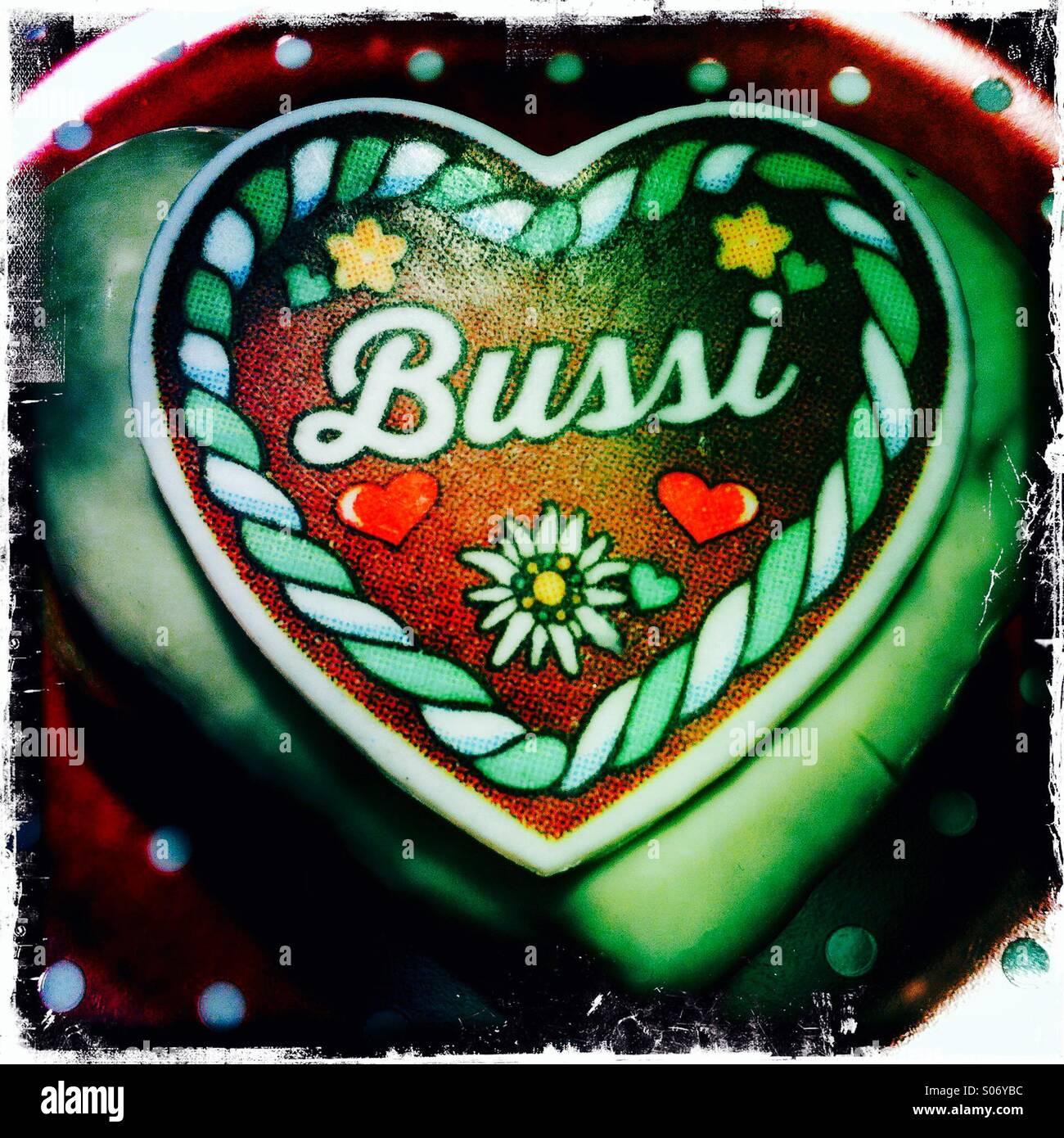 Bussi, kiss, oktoberfest, germany, volksfest. - Stock Image