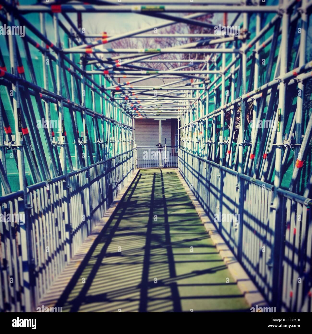 Bridge under construction - Stock Image