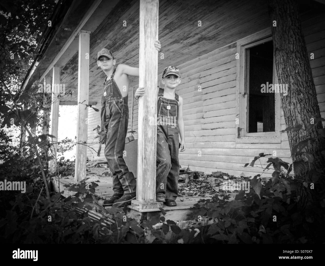 Old time country boys Stock Photo
