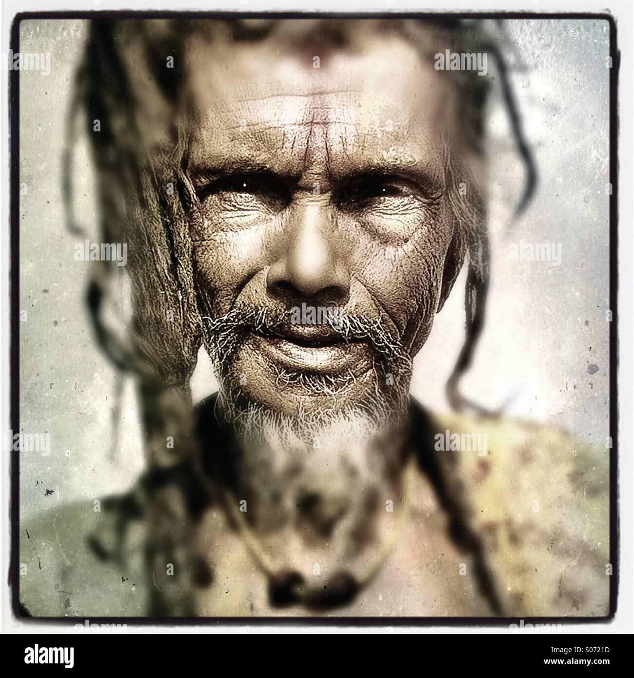 A Sadhu Hindu holy man - Stock Image