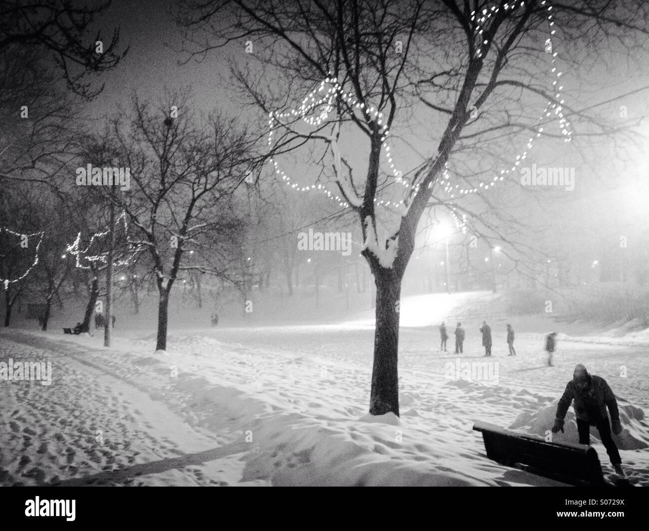A Canadian winter scene - Stock Image