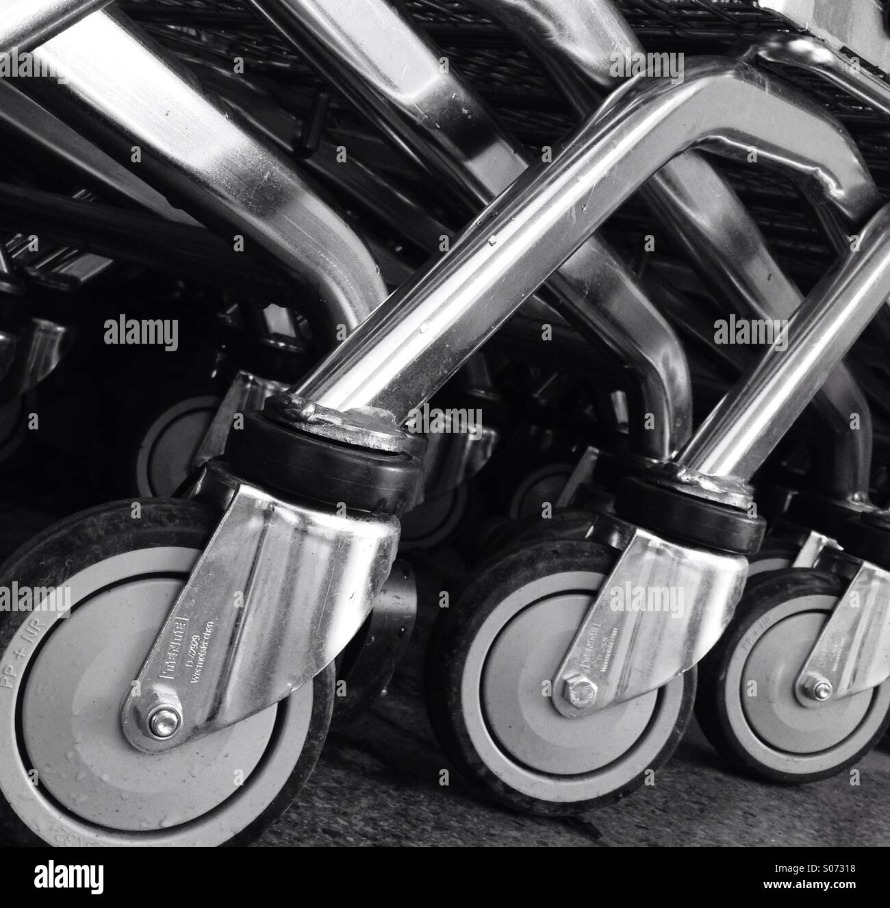 Trolley wheels - Stock Image