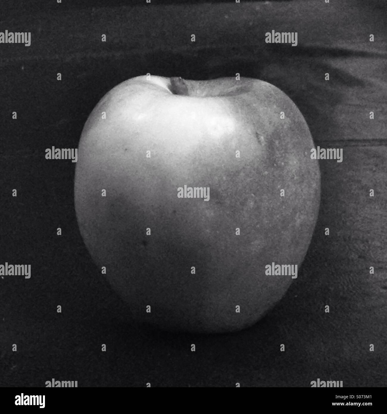 Gala apple in B&W - Stock Image