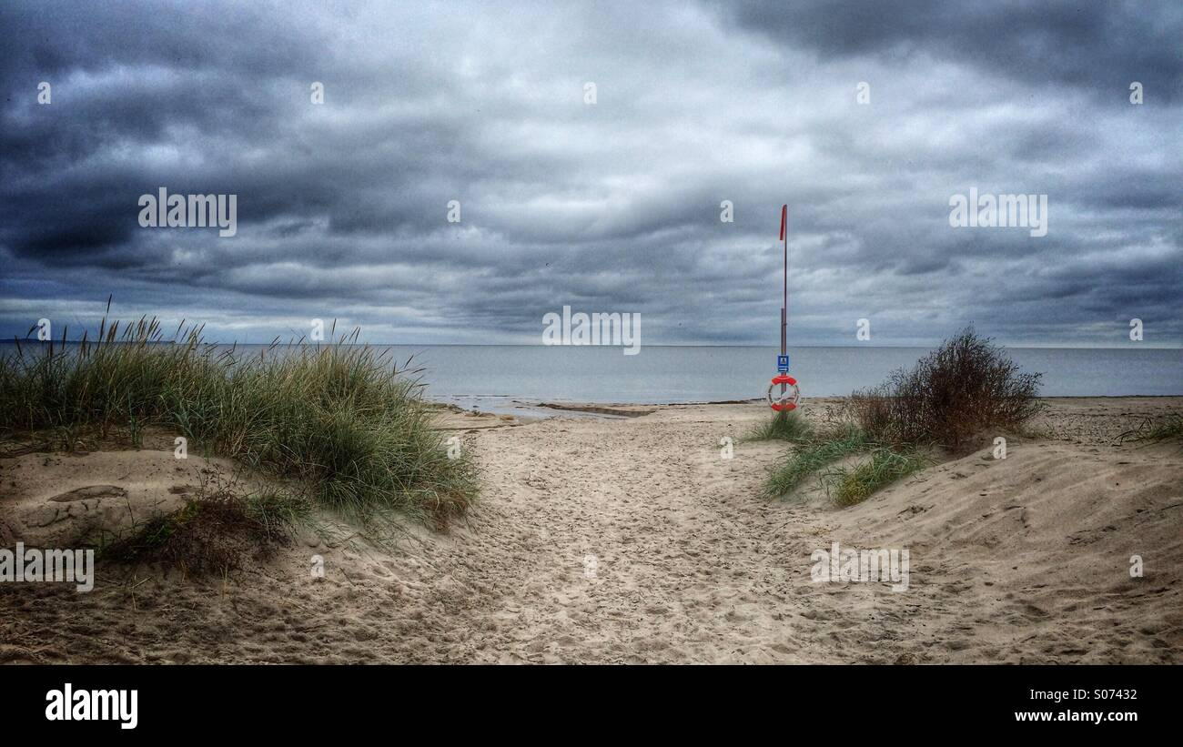 View Over The See From The First Tee At Helsingborgs Golf Club Stock Photo Alamy