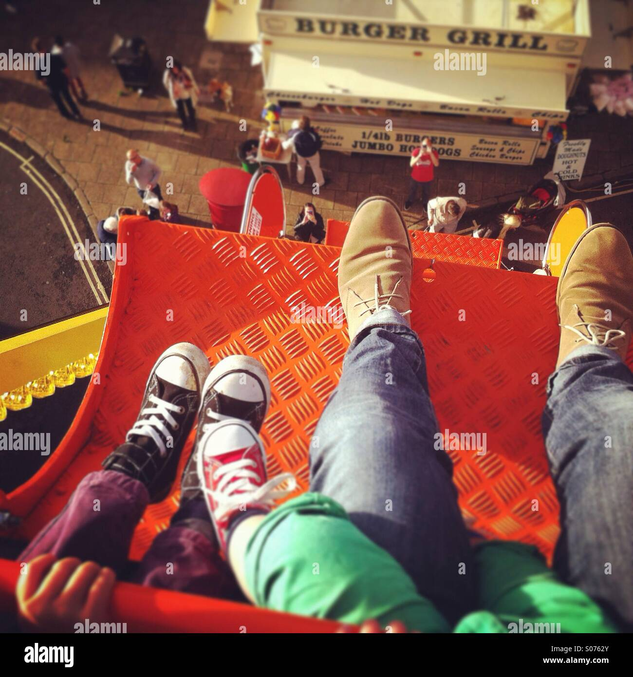 Don't look down! Stock Photo