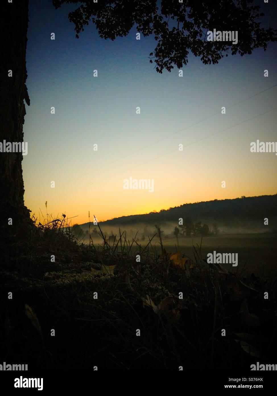 Magical almost sunrises - Stock Image