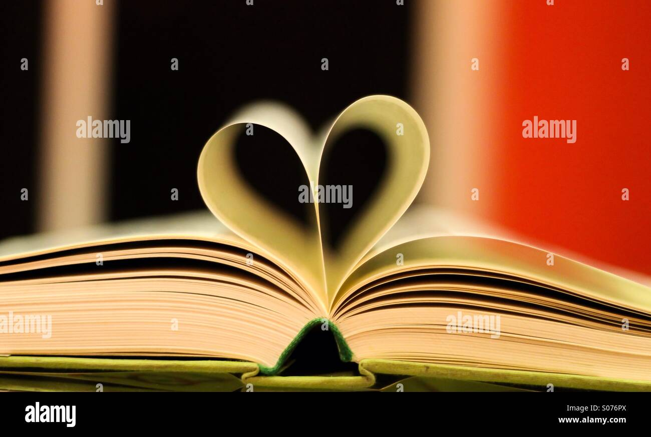 Heart is like an open book! - Stock Image