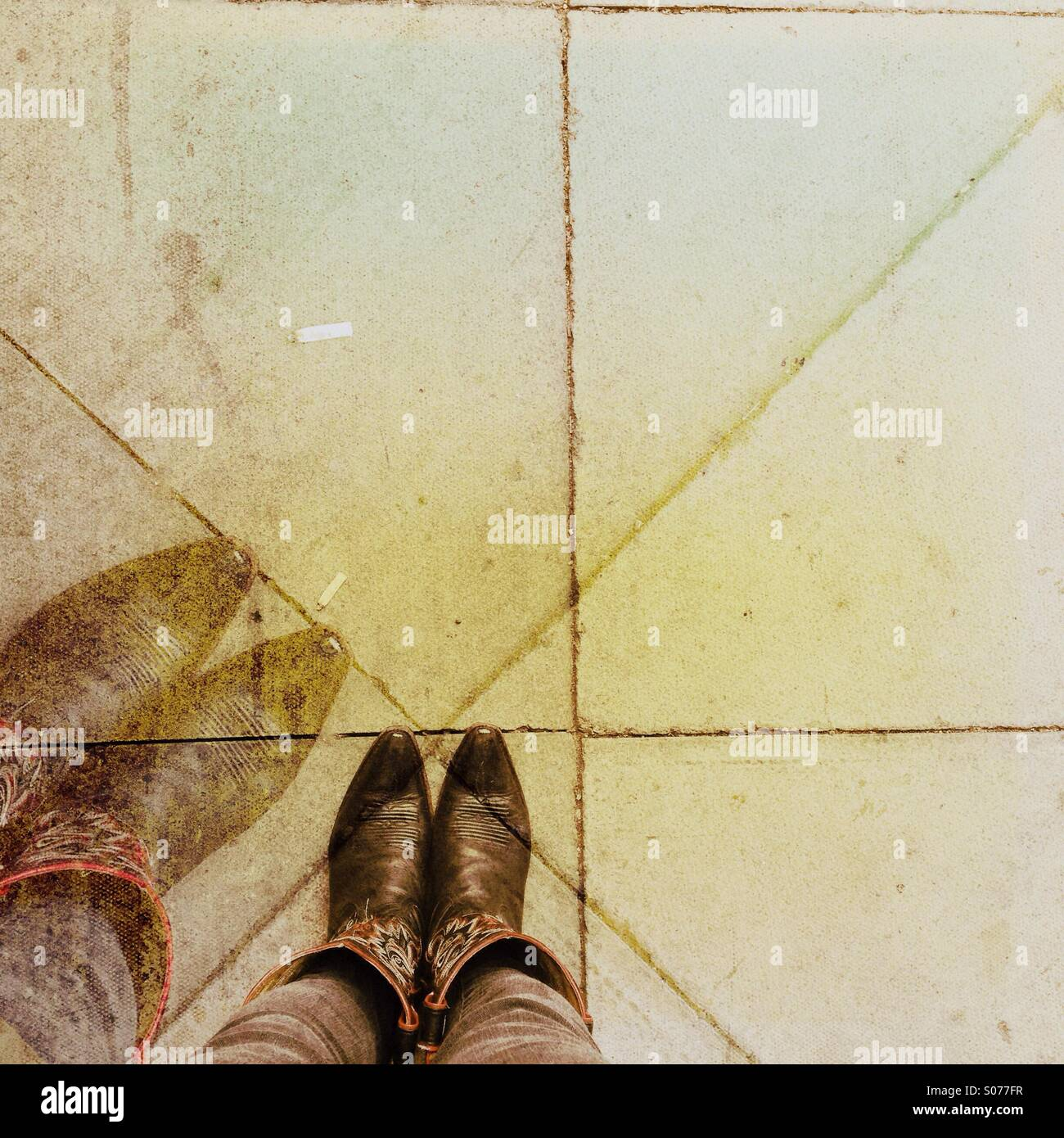Cowboy boots - Stock Image