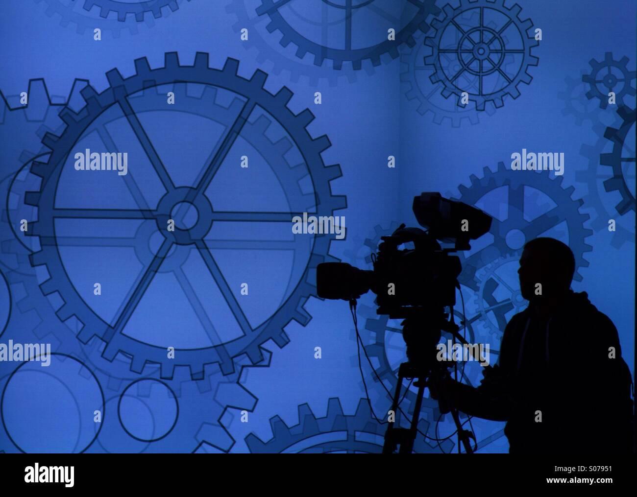 Cameraman at work - Stock Image